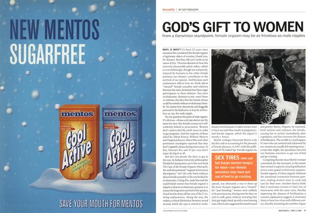 Article Preview: GOD'S GIFT TO WOMEN, May 2nd 2005 | Maclean's