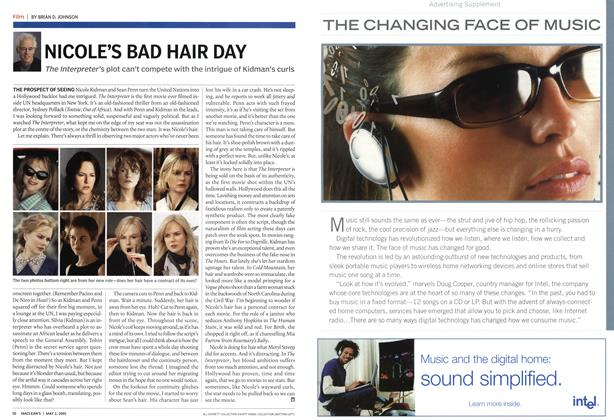 Article Preview: NICOLE'S BAD HAIR DAY, May 2005   Maclean's
