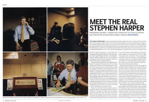 Article Preview: MEET THE REAL STEPHEN HARPER, May 9th 2005 | Maclean's