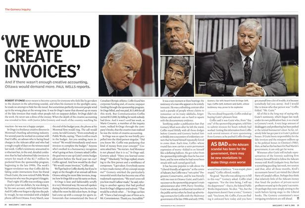 Article Preview: 'WE WOULD CREATE INVOICES', May 9th 2005 | Maclean's