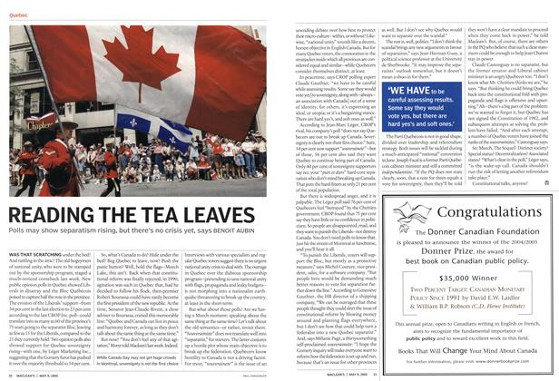 Article Preview: READING THE TEA LEAVES, May 9th 2005 | Maclean's