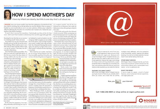 Article Preview: HOW I SPEND MOTHER'S DAY, May 9th 2005 | Maclean's