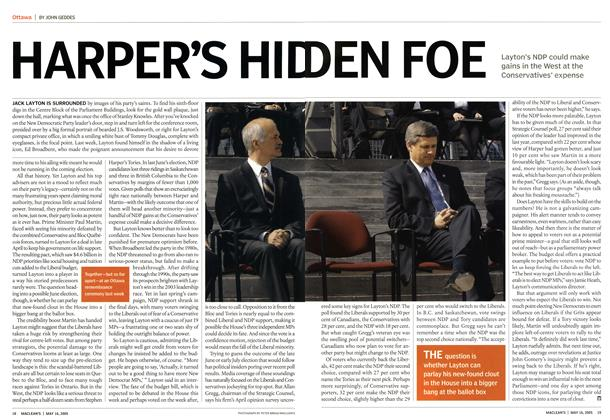 Article Preview: HARPER'S HIDDEN FOE, May 16th 2005 | Maclean's