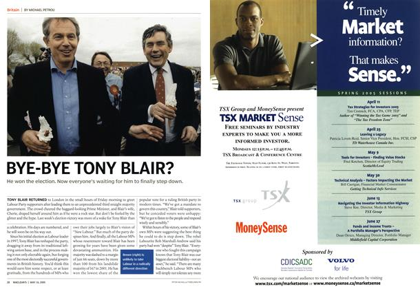 Article Preview: BYE-BYE TONY BLAIR?, May 16th 2005 | Maclean's