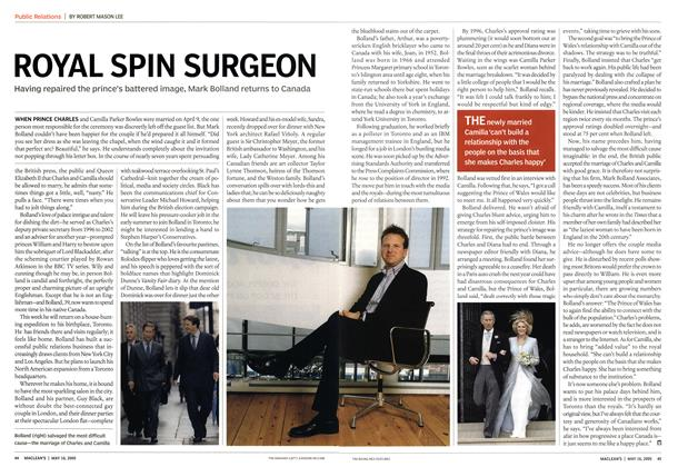 Article Preview: ROYAL SPIN SURGEON, May 16th 2005 | Maclean's