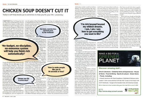 Article Preview: CHICKEN SOUP DOESN'T CUT IT, May 16th 2005 | Maclean's