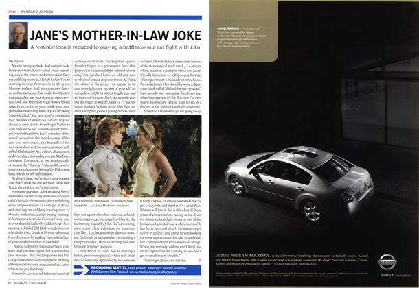 Article Preview: JANE'S MOTHER-IN-LAW JOKE, May 16th 2005 | Maclean's
