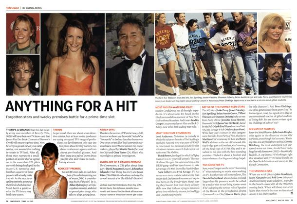 Article Preview: ANYTHING FOR A HIT, May 16th 2005 | Maclean's