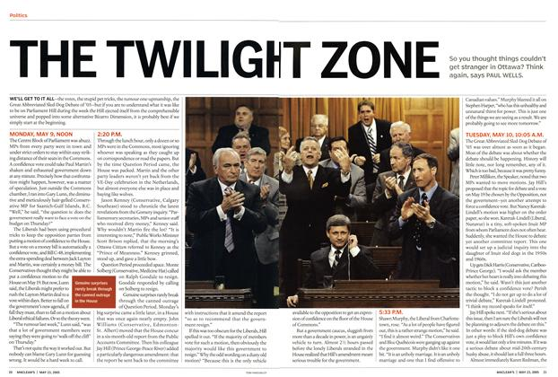 Article Preview: THE TWILIGHTZONE, May 2005 | Maclean's
