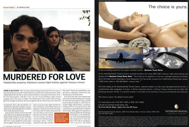 Article Preview: MURDERED FOR LOVE, May 23rd 2005 | Maclean's