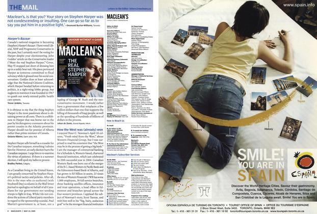 Article Preview: THEMAIL, May 23rd 2005 | Maclean's