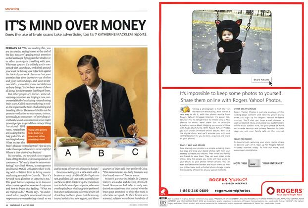 Article Preview: IT'S MIND OVER MONEY, May 23rd 2005 | Maclean's