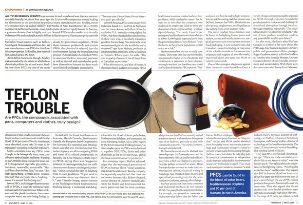Article Preview: TEFLON TROUBLE, May 23rd 2005 | Maclean's