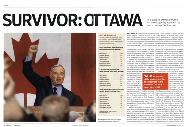 Article Preview: SURVIVOR: OTTAWA, May 2005 | Maclean's