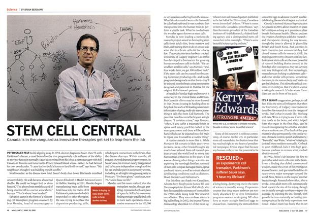 Article Preview: STEM CELL CENTRAL, May 30th 2005 | Maclean's