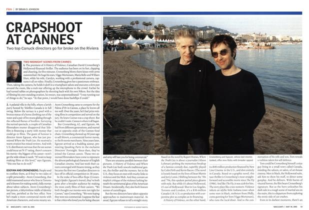 Article Preview: CRAPSHOOT AT CANNES, May 2005 | Maclean's