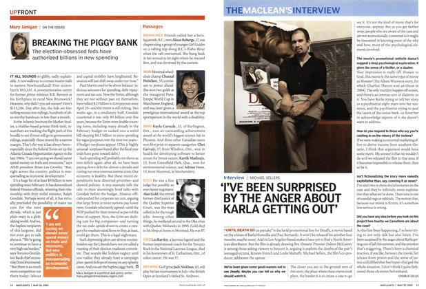 Article Preview: 'I'VE BEEN SURPRISED BY THE ANGER ABOUT KARLA GETTING OUT', May 30th 2005 | Maclean's