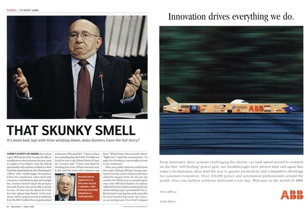 Article Preview: THAT SKUNKY SMELL, June 6th 2005   Maclean's
