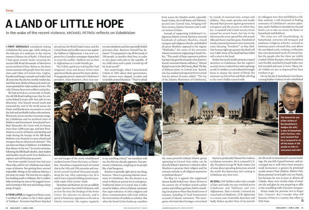 Article Preview: A LAND OF LITTLE HOPE, June 6th 2005 | Maclean's