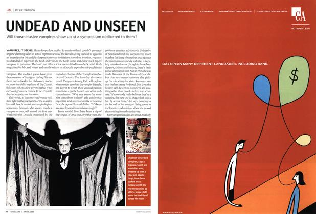 Article Preview: UNDEAD AND UNSEEN, June 6th 2005 | Maclean's
