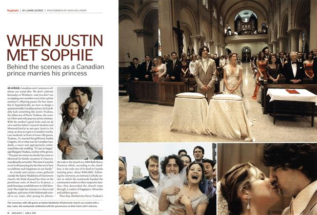 Article Preview: WHEN JUSTIN MET SOPHIE, June 6th 2005 | Maclean's