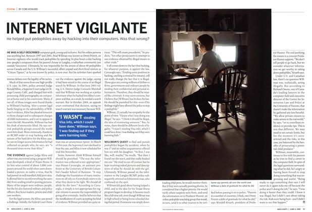 Article Preview: INTERNET VIGILANTE, June 6th 2005 | Maclean's