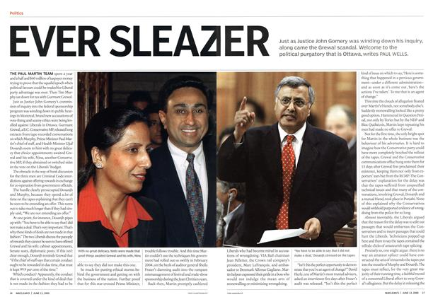 Article Preview: EVER SLEAZIER, June 13th 2005 | Maclean's