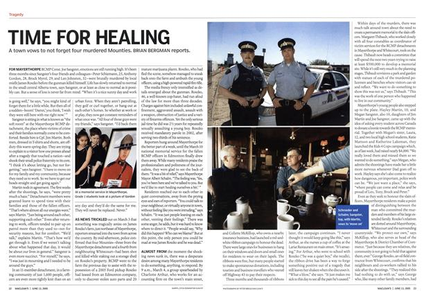 Article Preview: TIME FOR HEALING, June 13th 2005 | Maclean's