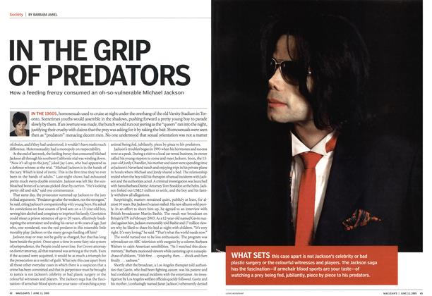 Article Preview: IN THE GRIP OF PREDATORS, June 13th 2005 | Maclean's