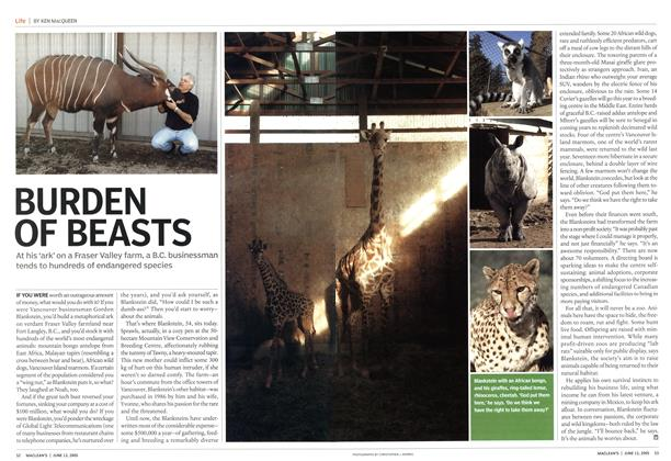 Article Preview: BURDEN OF BEASTS, June 13th 2005 | Maclean's