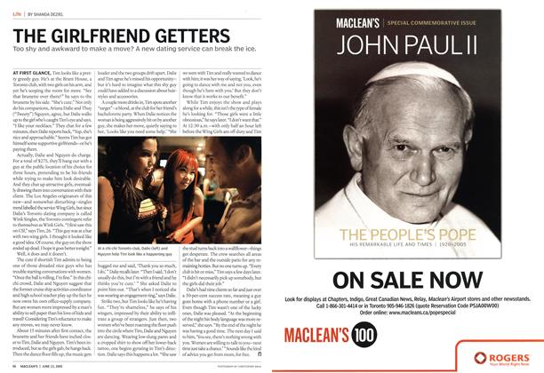 Article Preview: THE GIRLFRIEND GETTERS, June 13th 2005 | Maclean's