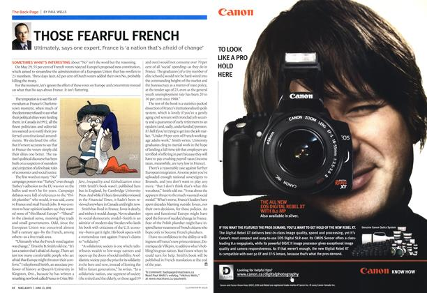 Article Preview: THOSE FEARFUL FRENCH, June 13th 2005 | Maclean's