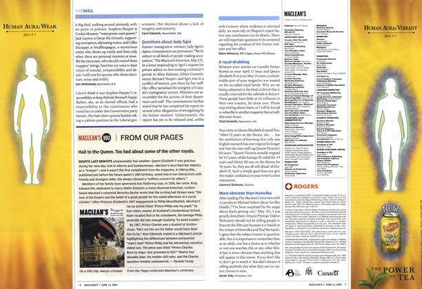 Article Preview: MACLEAN'S 100   FROM OUR PAGES, June 13th 2005   Maclean's