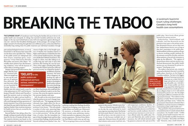 Article Preview: BREAKING THE TABOO, June 20th 2005 | Maclean's