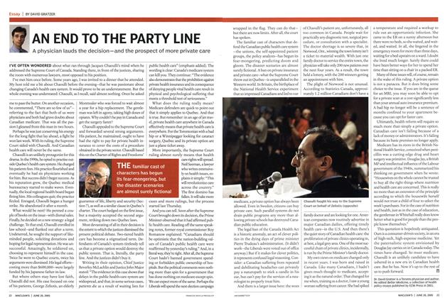 Article Preview: AN END TO THE PARTY LINE, June 20th 2005 | Maclean's
