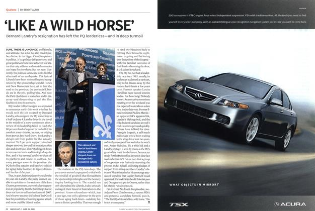 Article Preview: 'LIKE A WILD HORSE', June 20th 2005 | Maclean's