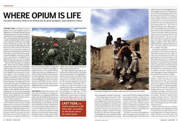 Article Preview: WHERE OPIUM IS LIFE, June 20th 2005 | Maclean's