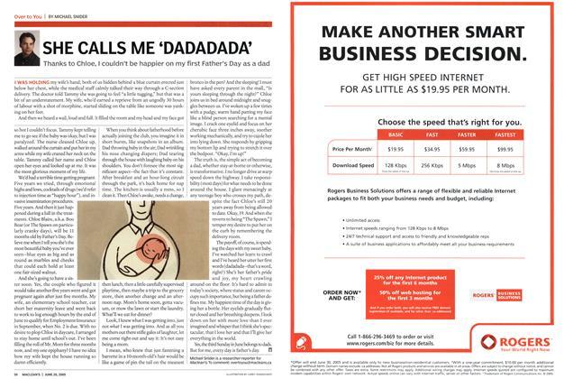 Article Preview: SHE CALLS ME 'DADADADA', June 20th 2005   Maclean's
