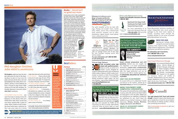 Article Preview: Bestsellers, June 2005 | Maclean's