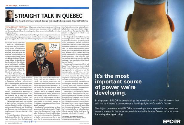 Article Preview: STRAIGHT TALK IN QUEBEC, June 27th 2005 | Maclean's