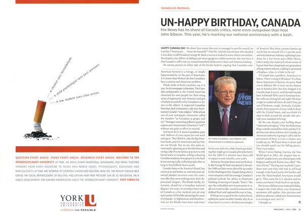 Article Preview: UN-HAPPY BIRTHDAY, CANADA, July 4th 2005 | Maclean's