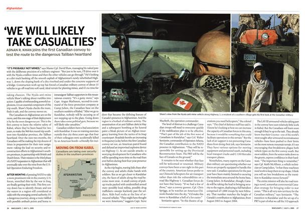 Article Preview: 'WE WILL LIKELY TAKE CASUALTIES', July 4th 2005 | Maclean's