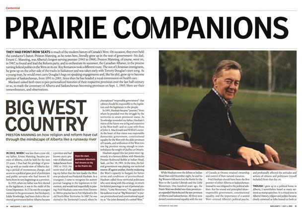 Article Preview: PRAIRIE COMPANIONS, July 4th 2005 | Maclean's