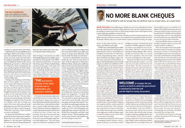 Article Preview: NO MORE BLANK CHEQUES, July 4th 2005 | Maclean's