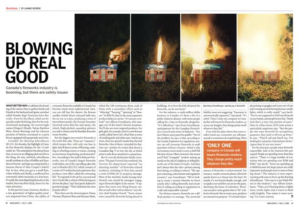 Article Preview: BLOWING UP REAL GOOD, July 4th 2005 | Maclean's