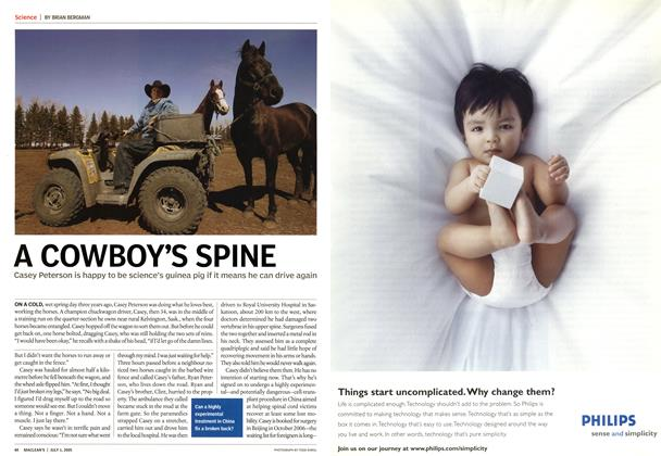 Article Preview: A COWBOY'S SPINE, July 4th 2005 | Maclean's