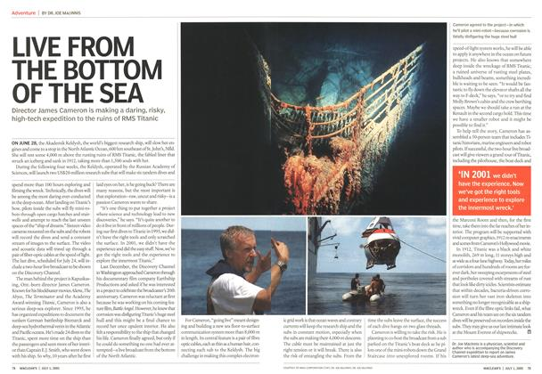 Article Preview: LIVE FROM THE BOTTOM OF THE SEA, July 4th 2005 | Maclean's
