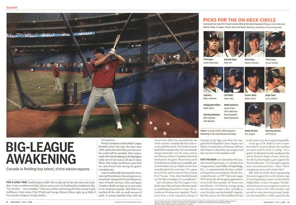 Article Preview: BIG-LEAGUE AWAKENING, July 4th 2005 | Maclean's