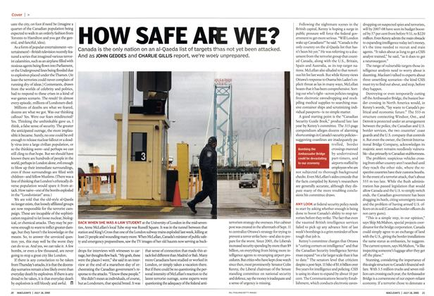 Article Preview: HOW SAFE ARE WE?, July 18th 2005 | Maclean's