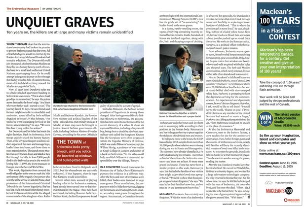 Article Preview: UNQUIET GRAVES, July 2005 | Maclean's